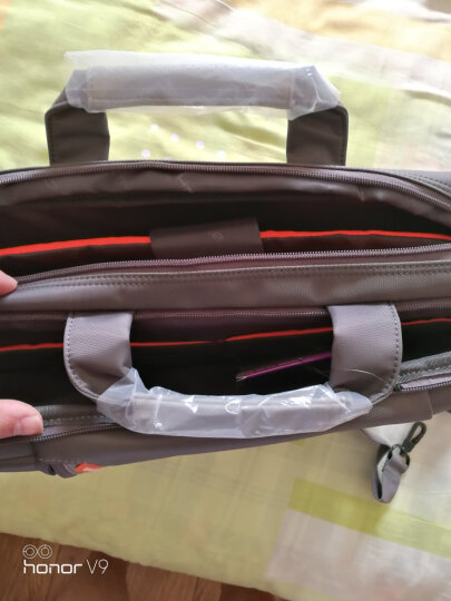 英制 BRINCH 电脑包大容量公文包手提包15.6英寸新款男女士防震防水商务单肩笔记本电脑包 BW-205 灰色 晒单图