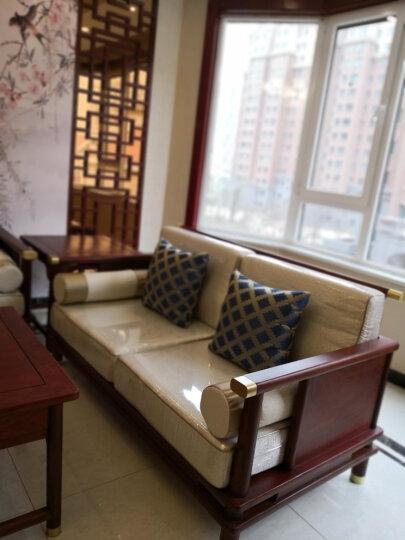 【暖冬特惠】善匠良品 红木家具非洲花梨(学名:刺猬紫檀)实木沙发 新中式传承沙发 别墅厅家具组合 123六件套(123+茶几+2*角几) 晒单图