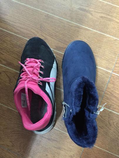 回力儿童棉鞋女童雪地靴子中高筒冬款男童鞋舒适保暖加厚鞋子 3532深蓝色 37/内长约23cm 晒单图