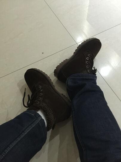 飞克狼雪地靴保暖棉鞋男短筒男防水鞋靴加绒男鞋增高马丁靴子 T2113黑色-棉鞋 40 晒单图