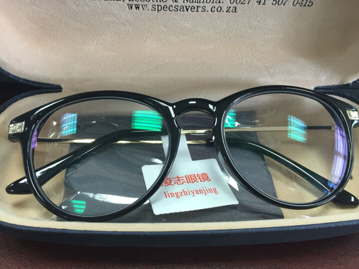 莎视近视眼镜框防蓝光复古男女同款电竞游戏平光变色眼镜防辐射电脑护目镜 磨沙黑 配镜1.74防辐射镜片适合0-1200度|留言度数 晒单图