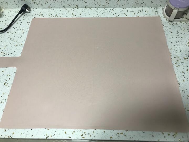 FaSoLa FASOLA硅胶揉面垫大号加厚厨房加厚防滑不粘案板和面板柔软擀面垫 象牙白 晒单图