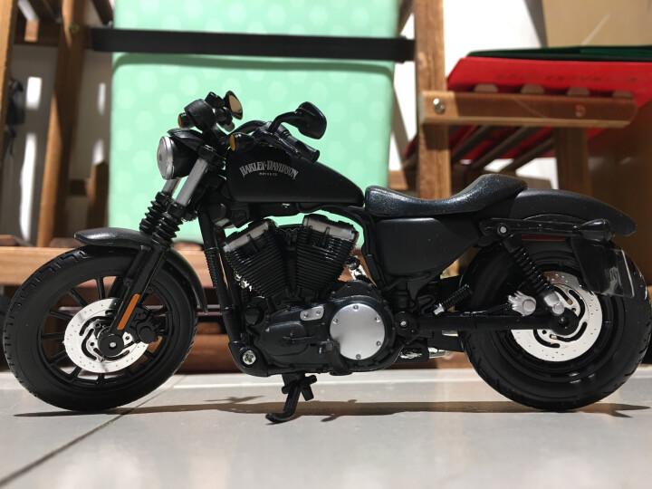 美驰图哈雷挎斗三轮摩托车仿真重机车模型合金车模玩具摆件 1/18 1998 大滑翔 晒单图