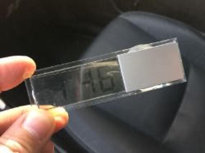透明吸盘式电子表液晶时钟表车载车内温度计 电子钟 温度表汽车用 单独-吸盘电子表 晒单图