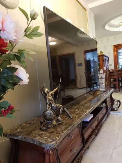 靓莎莎欧式创意人物雕塑复古罗马勇士装饰品摆件办公室客厅艺术品 哨哨兵勇士 古铜 高 39.8CM 矛高 40CM 晒单图