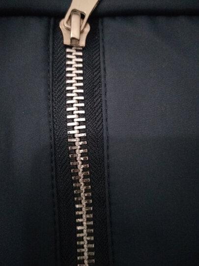 袋鼠(DaiShu)  夹克男秋冬新款2017加棉加厚立领中老年男装商务休闲爸爸装男士外套 深蓝色常规 XL/175 晒单图