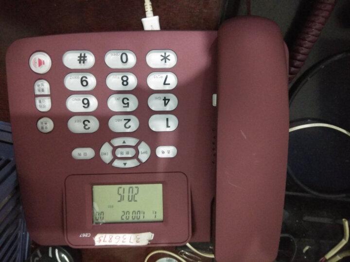 中诺 C267 免电池家用电话机座机电话办公固定电话机来电显示有线坐机固话机 黑色 20台箱装 晒单图