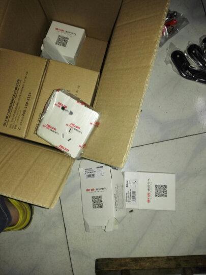 德力西开关插座 86型无边框开关墙壁电源插座带荧光拉丝珠光白 二位电脑 晒单图