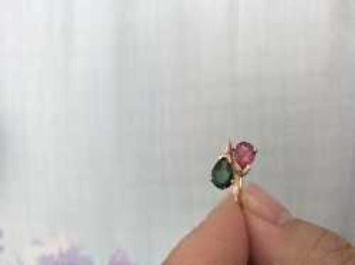 欧采妮 1.64克拉碧玺戒指 18K金镶嵌钻石红绿碧玺戒指女 彩色宝石 配证书 18K玫瑰金-(限量现货售完为止,下单备注圈口) 晒单图