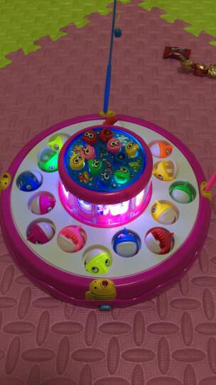 贝恩施(beiens)儿童钓鱼玩具 宝宝早教益智玩具电动旋转钓鱼356粉(新老包装随机发货) 晒单图