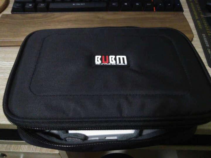 bubm 多功能收纳包 大容量笔记本电源包数码配件收纳包数据线收纳 大号灰色 晒单图
