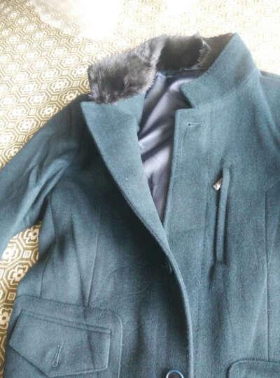 七匹狼毛呢大衣男士外套中长款立领风衣商务休闲男装外套6420 304浅咖啡色 165/84A(M) 晒单图