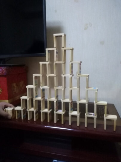 木贵婴100片双面榉木果蔬百科多米诺骨牌儿童益智木制玩具 MGY00463 晒单图