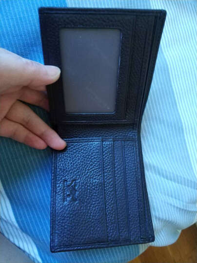 七匹狼(SEPTWOLVES) 腰带礼盒 男士皮带+头层牛皮男士短款钱包时尚简约套装L7324 黑 啡色 晒单图