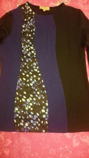 Ports/宝姿女装缝制针织长袖上衣LS9N155FCW04 BLACK S 晒单图