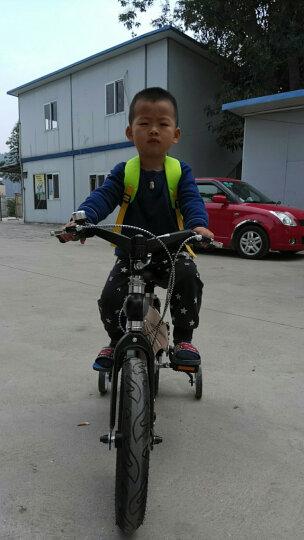 健儿(jianer)【可加长】儿童自行车男女小孩单车12/14/16寸 概念豪华款-极光黄(折叠车把双碟刹) 14寸 晒单图