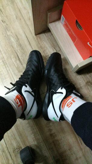 新款 Nike/耐克 TIEMPO 传奇6代TF 男子中端碎钉人草训练足球鞋 819216-707荧光黄/黑 41 晒单图