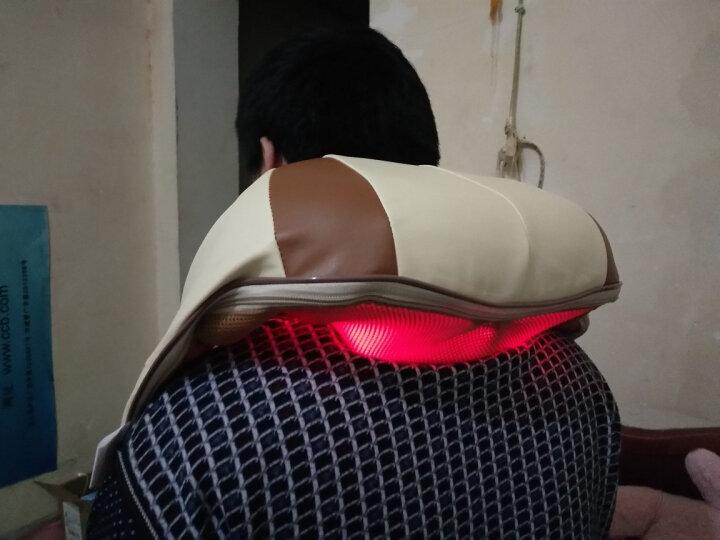 【母亲节礼物】南极人(NANJIREN) 颈椎按摩器 肩颈车载按摩披肩 按摩枕垫颈部腰部背部按摩仪 棕色4D揉捏版 晒单图
