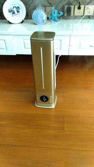 富得莱 空气加湿器 落地式孕妇家用静音卧室内大喷雾办公室空调负离子加湿机 土豪金 遥控智能 晒单图