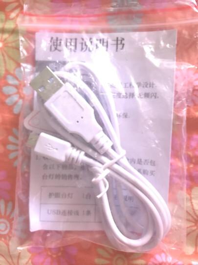 朗瑞特 (lenrit)LR-198 智能触摸感应LED锂电池护眼灯 床头灯 台灯 小夜灯 节能LED 可充电 典雅白 晒单图