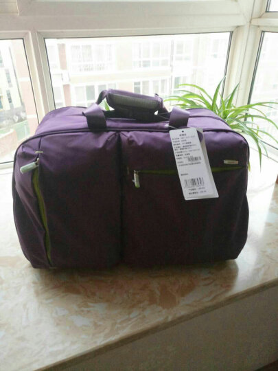 卡拉羊新款潮拉杆包男女旅行包拖轮包大容量防水手提20寸登机包行李包手拉包C8430 松石绿 晒单图