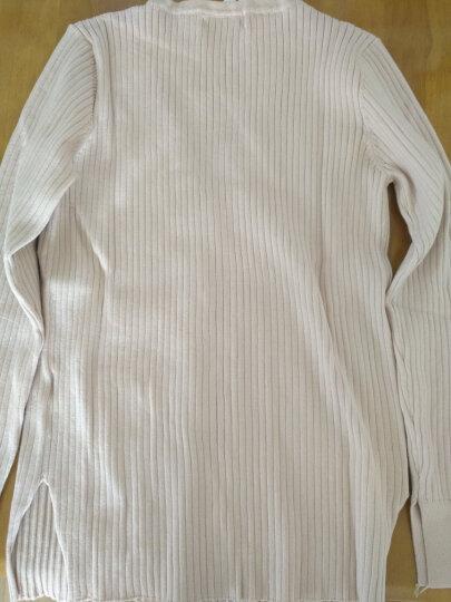 宜朵2019新款韩版毛衣女外套女秋季新品加厚针织衫女开衫v领外搭上衣 裸色 L码 晒单图