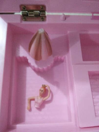 芭蕾跳舞女孩儿童化妆镜音乐盒公主旋转跳舞八音盒小女孩首饰盒送女孩生日礼物 双层美少女+爱心镜子 晒单图