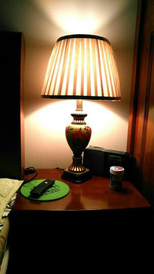 繁登堡(fandengbao)美式田园台灯卧室床头灯欧式客厅复古创意礼品礼物结婚庆台灯定制节日装饰 晒单图