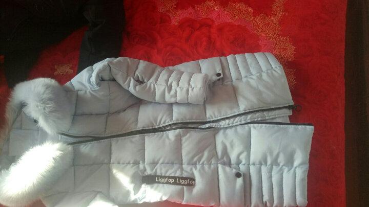 LIGGFOP2018冬季外套女装反季棉衣女中长款 韩版加厚保暖修身时尚棉服长大衣棉袄 白色 XL 晒单图