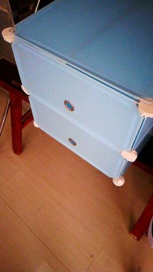 家旺达床头柜现代简约贴纸床边组装柜储物收纳柜子 龙蓝-1门1列鞋柜 晒单图