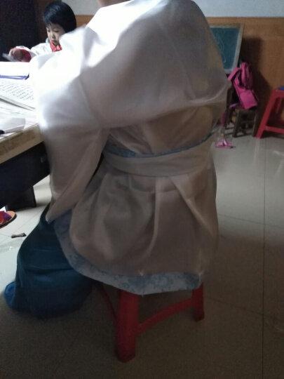 新款汉服女装汉服曲裾古装服装 汉服民族服装女古装曲裾演出服装 上衣蓝裙子蓝 L(适合身高165-172cm) 晒单图