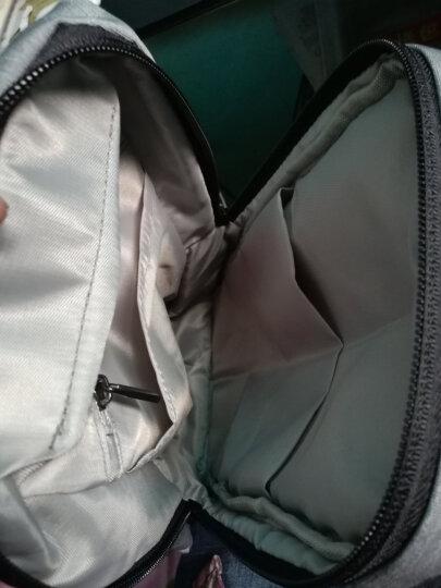 智纳(ZZINNA)胸包男单肩斜挎包学生旅游休闲运动包韩版潮流小背包 浅灰色+黑色钱包 胸包 晒单图