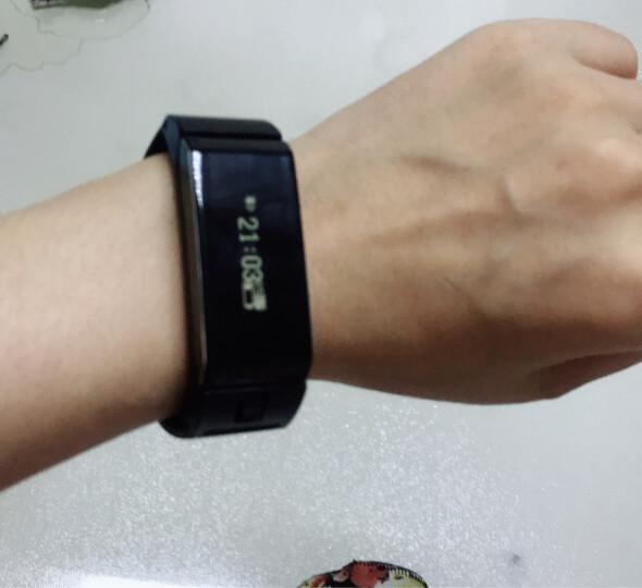 颂者 智能手环蓝牙耳机二合一运动手表遥控拍照可接电话健康计步器安卓兼容苹果 黑色【硅胶表带】 vivo X9 X9Plus X7 X7Plus 晒单图