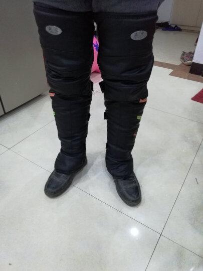 森虎(SENHU)护膝摩托车护膝踏板车男女士短护膝护腿防风防寒防雪保暖加厚加毛护膝长护膝 PU皮黑色(长款) 晒单图