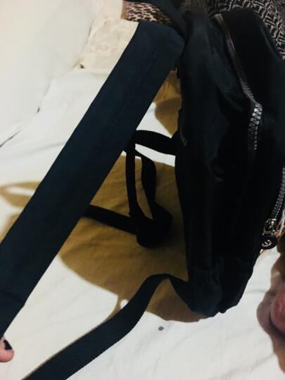 小憨象  女包旅行背包双肩女休闲妈咪中年女士妈妈老人尼龙帆布防水包 TDT6036-26 地图色 晒单图
