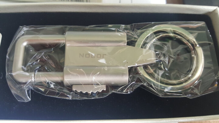 JOBON中邦钥匙扣圈汽车钥匙扣链子母双匙圈按扣腰挂式 ZB-060C铬 晒单图
