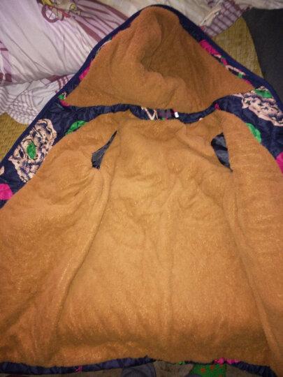 心娜2017冬季中老年女装妈妈装冬装宽松加绒加厚棉衣棉服老人外套1497 花色4 XL 晒单图