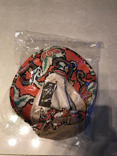 迷人微笑 遮阳帽女士夏天韩版运动户外防晒草帽可折叠大檐太阳帽新品 咖色09 晒单图