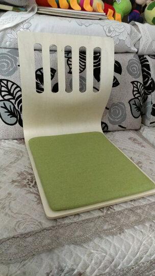 坂田尚品 榻榻米无腿椅 一次成型和室椅日式懒人沙发无腿椅 地台椅飘窗椅 五孔椅草绿色棉垫 晒单图
