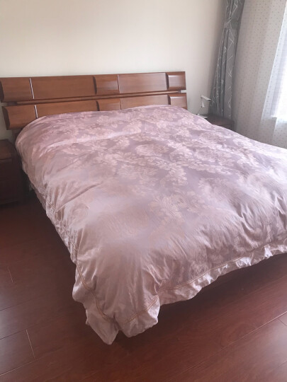 壹号馆 纯棉贡缎提花四件套全棉被套床单绣花婚庆套件床上用品套件 花魁 被套220*240cm/1.8-2.0米床 晒单图
