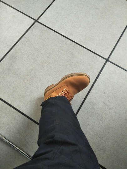 骆驼动感男靴棉靴鞋2017冬季加绒保暖雪地靴子时尚马丁靴大黄靴子1785 0056黑色偏大 40 晒单图