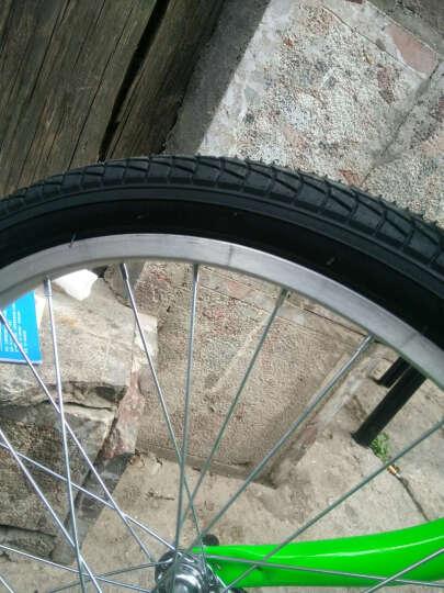 永久(FOREVER) 永久自行车女折叠减震轻便20寸自行车单速休闲学生成人儿童都可以骑行 黑绿色 晒单图