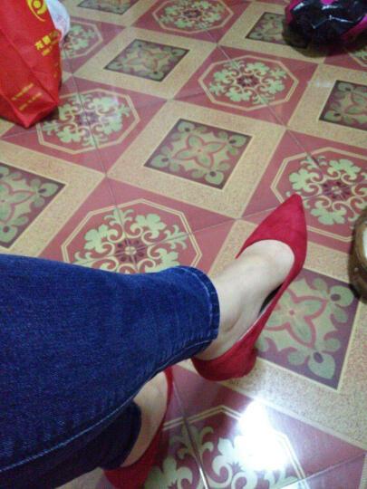 侍娅单鞋女粗跟高跟鞋小码31-33黑色中跟皮鞋尖头职业工作鞋秋季大码40-43正装女鞋 黑色【推荐】 36 晒单图