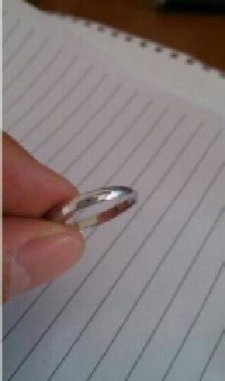 媚莉 情侣戒指s925银情侣对戒男女白银戒子可刻字一对价 女款一只(尺寸留言) 晒单图