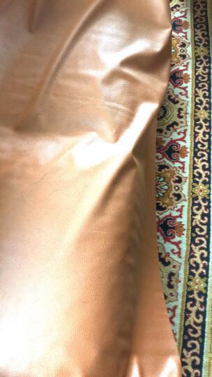 喜淘淘皮革面料 沙发布料软包大荔枝纹人造革diy手工硬包床头皮子pu 咖啡色 晒单图