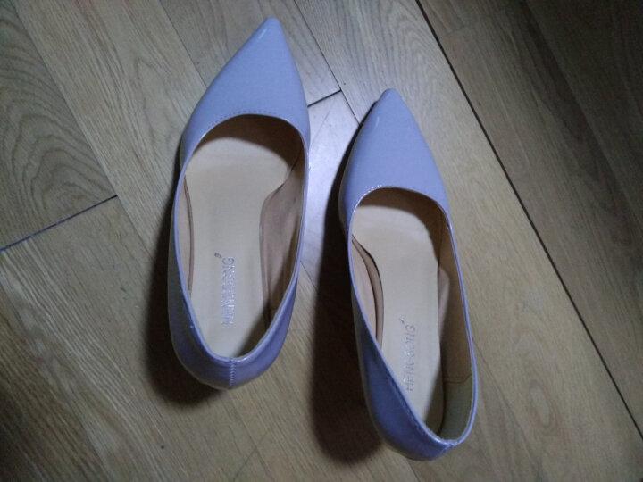 2018新款44-46大码胖脚女鞋细跟尖头7cm高跟鞋男士反串演出cosplay伪娘鞋ll 白色 38 晒单图