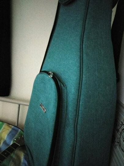 RL 民谣吉他包40寸41寸双肩木吉它背包加厚防水琴包吉他盒箱 黑灰色 晒单图