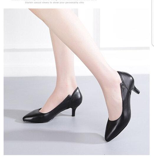 【名品精选】品牌专柜款 手工定制牛皮休闲鞋拼色运动鞋男女款新品300 黑色-定制款 36 晒单图
