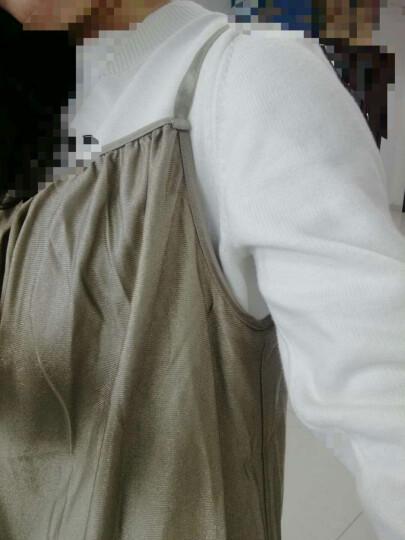 淑孕防辐射服孕妇装双层银纤维吊带冬季 粉红色(单层) XXL 晒单图
