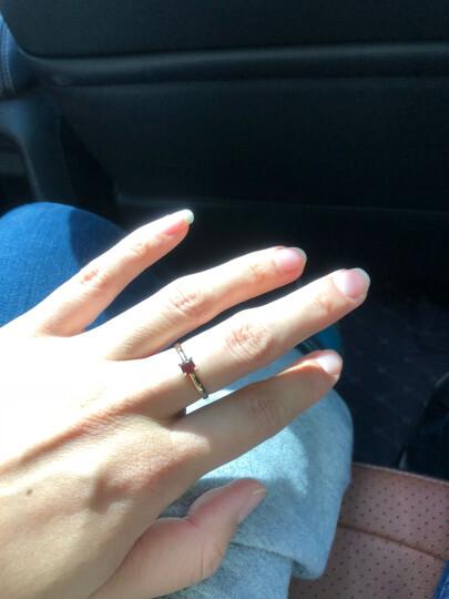 (不上架)ENZO珠宝 VAVA系列 9K金镶橄榄石戒指 石榴石款戒指 15号 晒单图